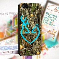 Deer Camo with Love - Print On Hard Case iPhone 5 Case