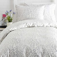 Snow Leopard Duvet Cover Set