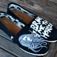 Custom Hand Painted Bring Me The Horizon TOMS by BStreetShoes