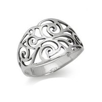 Sterling Silver SCROLL/FILIGREE SWIRL Ring