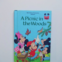 Vintage Walt Disney's A Picnic In The Woods Book