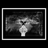 Gothic Bird Photography black,gothic,goth inspired print,magical,crow,Gifts under 25,celtic cross,dark,haunting,raven,cemetery,gravestone
