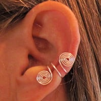 Etsy Transaction -          Non Pierced Double Spiral Ear Cuffs 1 Cuff 13 Color Choices