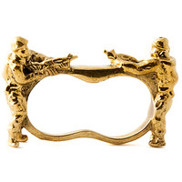 Accessories Boutique Ring War is Hell 2 Finger in Gold