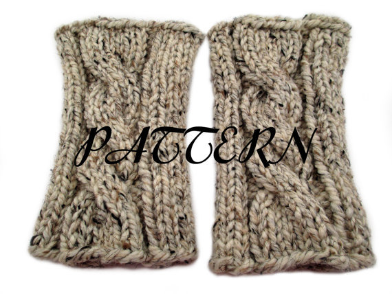Cable Knit Boot Buffer Pattern - Leg from knittedbyscw