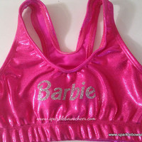 Bar Bar Metallic Sports Bra Cheerleading