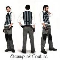 Mr.Grey Pinstripe Vest - Steampunk