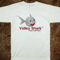 Volley Shark volleyball tee _Play it with Heart