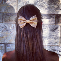 floral BIG hair bow (S-N-010)