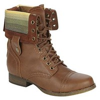 SM New York- -Women's Fashion Bootie Corey - Cognac-Shoes-Womens Shoes-Womens Boots