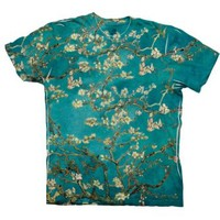 "ArtsyClothingCo- Van Gogh - ""Blossoming Almond Tree"" (1890) -Tagless- Mens Shirt"