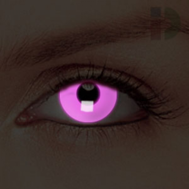 iD Lenses Pink Glow In The Dark Contacts from Coloured ...