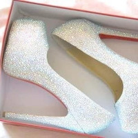 Swarovski crystal embellished high heels
