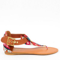 Ashley Woven Sandals in Chestnut Multi :: tobi