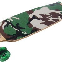 Camo Drop Through Thru Complete Longboard Skateboard New On Sale