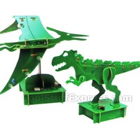 Dinosaur LED Recycled Motherboard 3D Model Kit, Fun & Unique Gifts