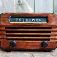 Antique RCA Victor Radio with bluetooth by daffdesign on Etsy