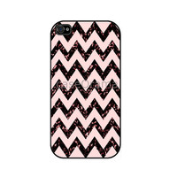 BLACK CHEVRON Pattern Rubber iPhone Case iPhone 4 by caseOrama