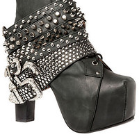 The Lita Strap in Black and Silver
