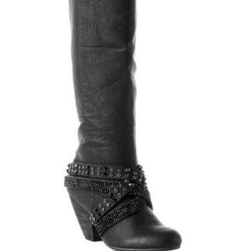 """Liv"" Crystal Harness Boot - Hyp Boutique"