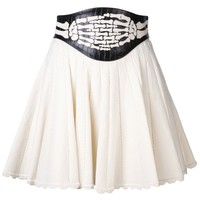 UNDERCOVER - Embossed Leather Waist Skirt - L1602-1 OFF WHITE - H. Lorenzo