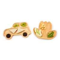 WOODEN PLATES - CAR OR FLOWER | Kids Dinnerware, Baby Dishes | UncommonGoods