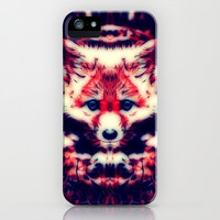 Red Fox iPhone & iPod Case by Zandonai