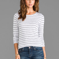 Velvet Iona Slub Stripe Shirt in Hippo from REVOLVEclothing.com