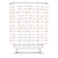 DENY Designs Home Accessories | Laura Redburn Dot Dot Chevron Shower Curtain