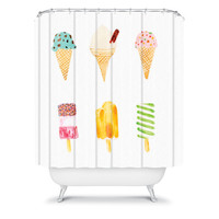 DENY Designs Home Accessories | Laura Redburn Ice Cream Selection Shower Curtain