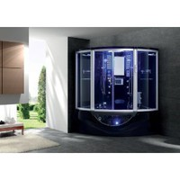 Jacuzzi Type Whirlpool Bathtub Shower Steam Sauna Computerized Massage Jets SPA TV Phone Black - Model 160i-Bk