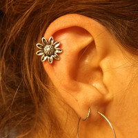 Sunflower Cartliage Earring Tragus Helix Piercing