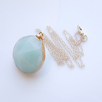 Mint Chalcedony Necklace