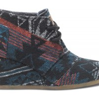 Black Jacquard Desert Wedge