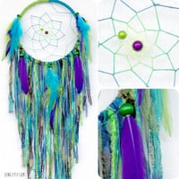 The Peacock Large Native Style Woven Dream Catcher