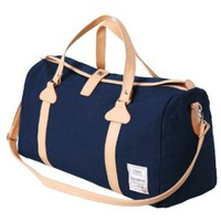 H2H Mens Canvas Travel Bag Mixed Leather Fashion Duffle Bag