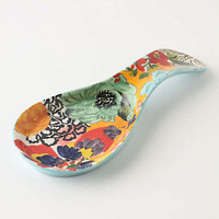 Anthropologie - Painted Amaryllis Spoon Rest
