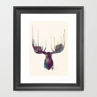 Moose Framed Art Print by Amy Hamilton