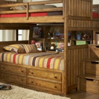 Grayson Twin over Twin Stairway Bunk Bed