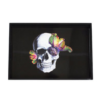 D.L. & Co.: Bright Blooming Skull Tray Black, at 34% off!