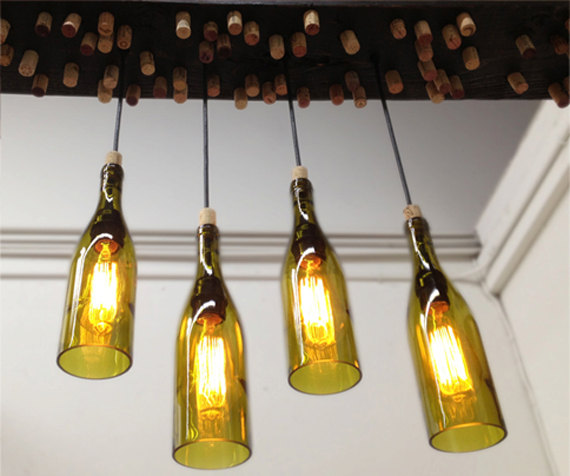 Hanging Barn Wood Light Fixture with from Industrial Lightworks