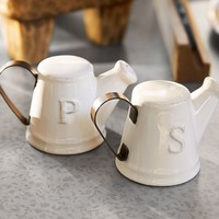 Watering Can Salt & Pepper Shakers