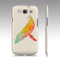 Samsung Galaxy s3 case, Galaxy S4 case, ombre watercolor whale painting, animal painting, art for your phone