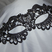 Soft Lace Masquerade Mask with Clear Stones