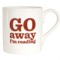 Go Away I m Reading Bone China Mug