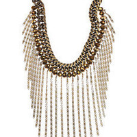 Dannijo | Kamani tasseled silver and gold necklace | NET-A-PORTER.COM