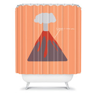 DENY Designs Home Accessories | Nicole Martinez Lava Shower Curtain