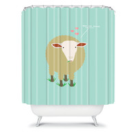 DENY Designs Home Accessories | Nicole Martinez Ewe Are Loved Shower Curtain