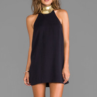 keepsake Modern Myth Mini Dress in Dark Navy/Gold from REVOLVEclothing.com