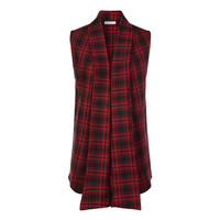 StyleMint: Windsor Flannel Vest Red, at 25% off!